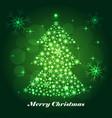 shiny christmas tree celebratory background vector image vector image