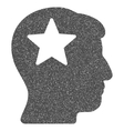 Star Head Grainy Texture Icon vector image vector image
