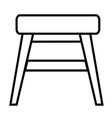stool icon vector image vector image