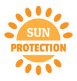 sun protection logo flat style vector image