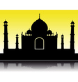 Taj Mahal silhouette vector image vector image