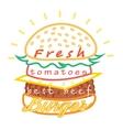 Tasty burger food menu vector image