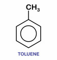 toluene molecule vector image vector image