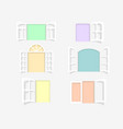 various open windows set paper cut art vector image vector image