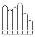 Vertical chart icon outline style vector image vector image