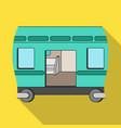 wagon single icon in flat stylewagon vector image