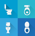 Wc Toilet icons vector image vector image