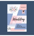 wedding Brochure blank template Front page vector image
