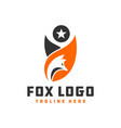wild fox animal logo vector image