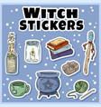 witch stickers set collection witchcraft vector image vector image