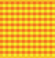 yellow and orange plaids seamless pattern vector image