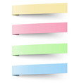 Yellow red blue and green sticky notes vector image vector image