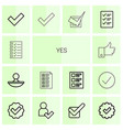yes icons vector image vector image