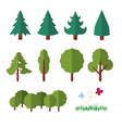 trees icon flat vector image