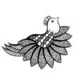 ornamental funny bird vector image