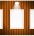 White frames in art gallery vector image