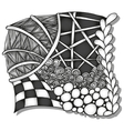 Abstract monochrome zentangle ornament vector image vector image