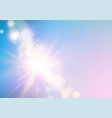 abstract rays with bokeh over blue sky glitter vector image vector image