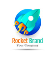 Abstract Rocket web Icons logo design Template vector image vector image