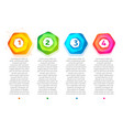 abstract steps colorful hexagon frame vector image vector image