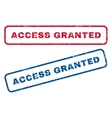 Access Granted Rubber Stamps vector image vector image