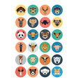 Animals Flat Colored Icons 1 vector image vector image
