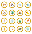 baby cartoon icon circle vector image vector image