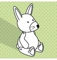 Baby toys white cartoon icon vector image vector image