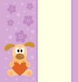 background with cartoon dog vector image vector image