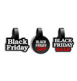 black realistic advertising wobblers for black vector image vector image