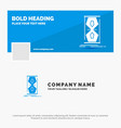 blue business logo template for access clock vector image vector image