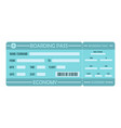 boarding pass icon flat style vector image