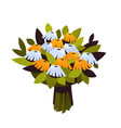 bouquet of flowers 8 march happy womens day vector image vector image