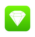 brilliant gemstone icon digital green vector image