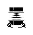 building machine black icon concept vector image