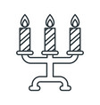 candlestick outline icon vector image