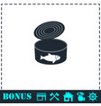 canned tuna fish icon flat vector image