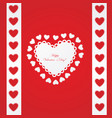 card for valentine day saint valentina vector image vector image