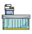 cash register technology to check products vector image