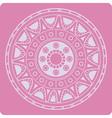 Celtic ornament on pink vector image vector image