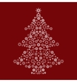 Christmas tree snow pattern vector image vector image