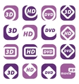 color movie icons vector image vector image