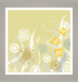 creative universal floral card vector image vector image
