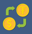 Currency exchange Dollar and Tugrik vector image vector image