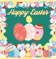 easter card with colored eggs vector image vector image