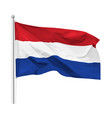 flag kingdom netherlands isolated vector image