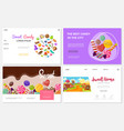 flat sweets websites set vector image