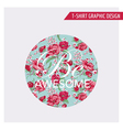 Floral Shabby Chic Graphic Design - for t-shirt vector image vector image