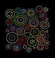 funny circles colorful sketch for your design vector image vector image