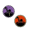 Halloween banners or cupcake toppers vector image vector image